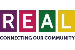 REAL Connecting Our Community logo