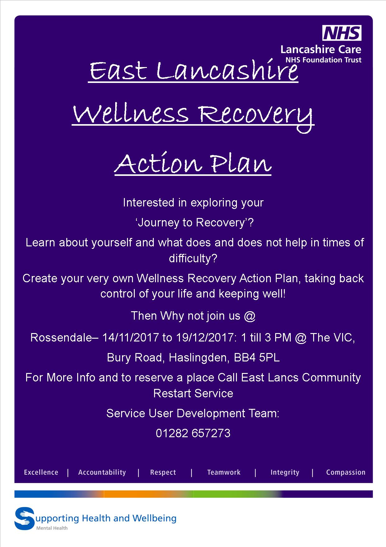 Wellness Recovery Action Plan W R A P Workshops Real Rossendale