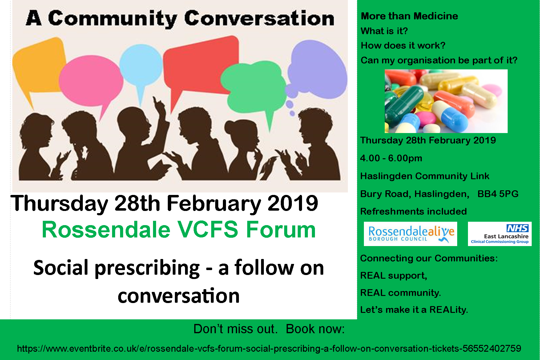 Rossendale VCFS Forum – Social prescribing – a follow on conversation 28/02/19