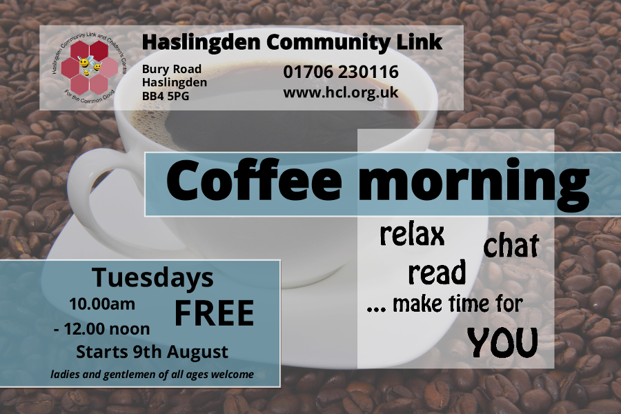 Coffee Morning at Haslingden Community Link