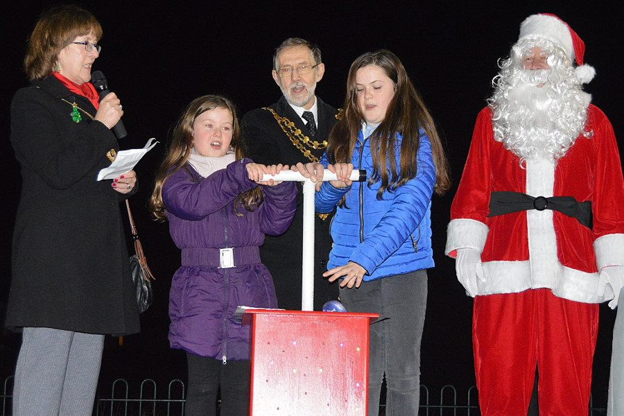 Whitworth's Christmas Lights are switched on