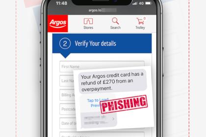 Scam Alert – Fake Argos Texts